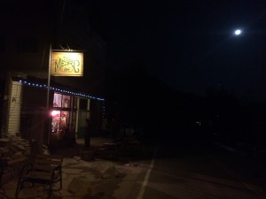 Moon over The Merc last month.