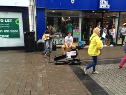 Buskers in Gallway, Ireland. The percussionist is at @KevinNearyMusic