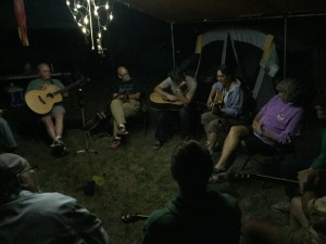 Late night song circle at Song School.
